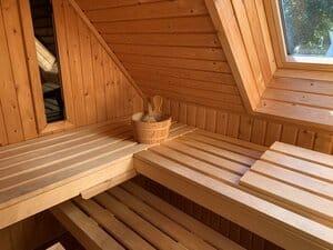 vakantiehuisje met sauna aan zee